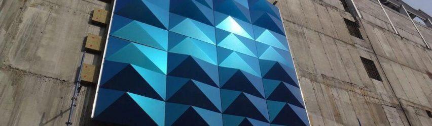 بازسازی نمای ساختمان با نمای کامپوزیت گلس باند